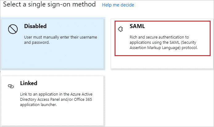 Single sign-on select mode