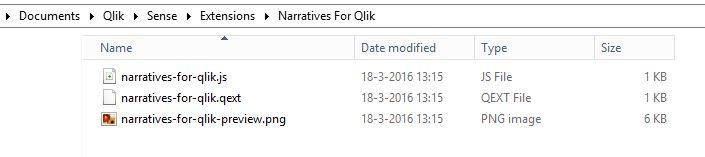 Opslaglocatie Qlik Sense extensie