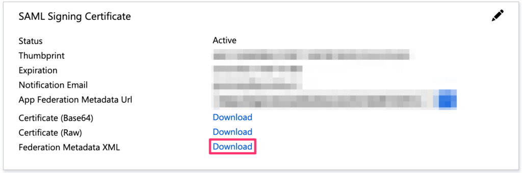 Azure Active Directory Download Federation XML