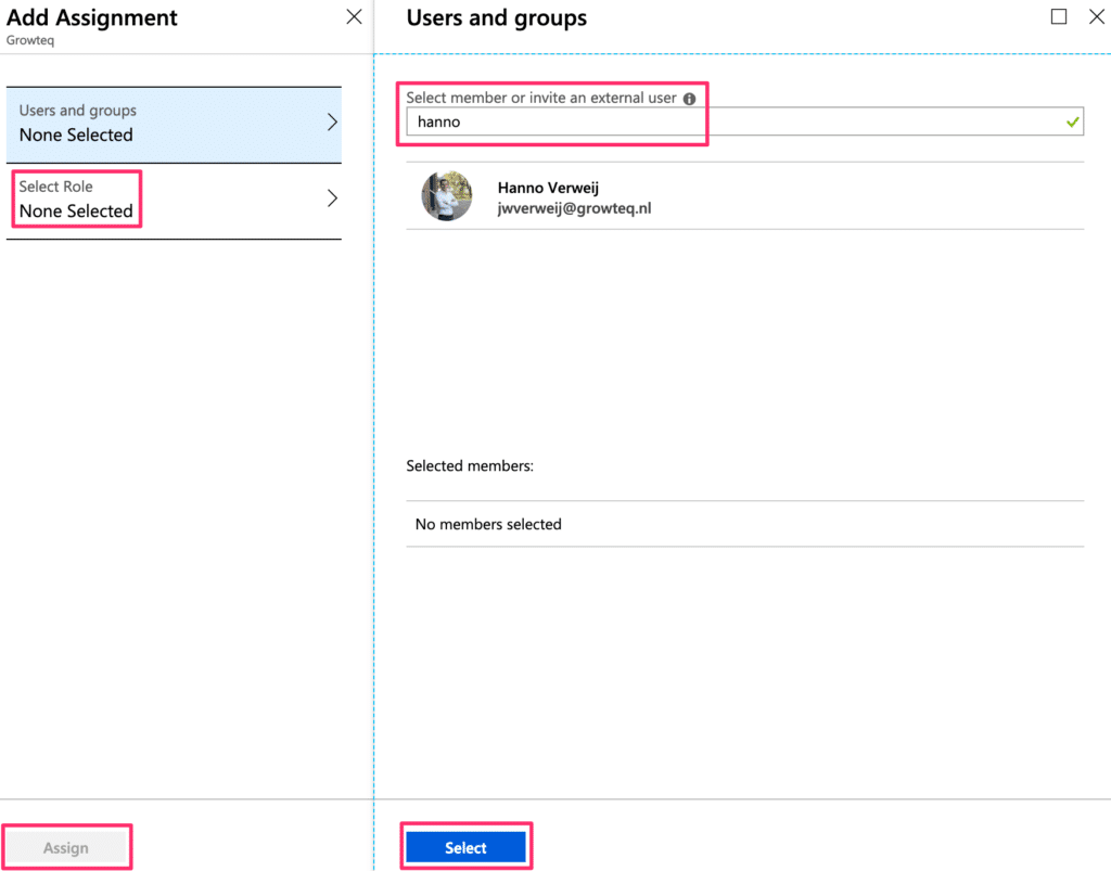 Azure Active Directory Add User to Application 2